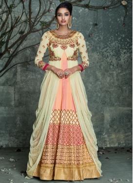 Pleasance Embroidery Work Silk Floor Length Wedding Salwar Kameez