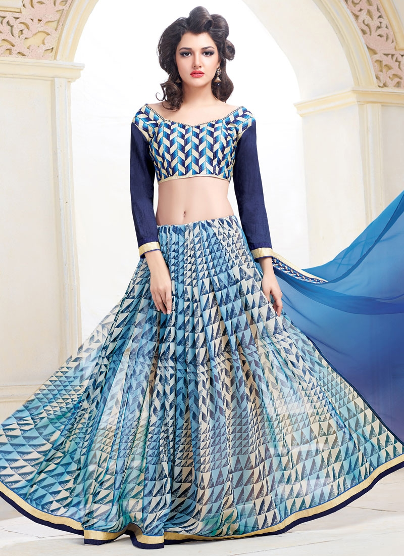 Pleasance Lace And Resham Work Half N Half Party Wear Saree