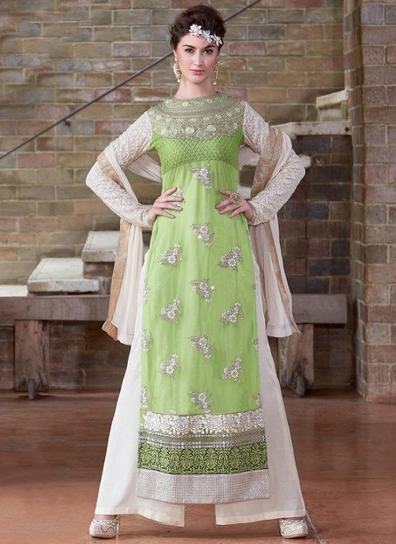 Pleasance Lace Work Palazzo Style Designer Suit