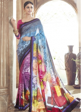 Pleasance Multi Color Art Silk Party Wear saree
