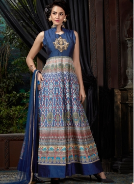 Pleasance Navy Blue Color Designer Readymade Gown