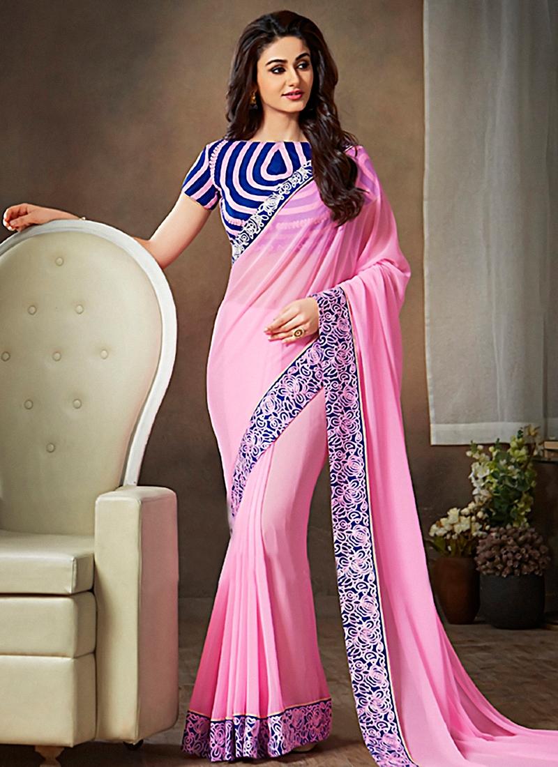Pleasance Pink Color Casual Saree