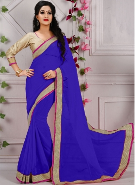 Pleasance Resham And Lace Work Casual Saree