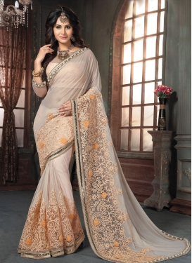 Pleasance Shimmer Georgette Beads Work Traditional Designer Saree