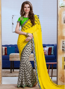 Pleasance Yellow Color Half N Half Party Wear Saree