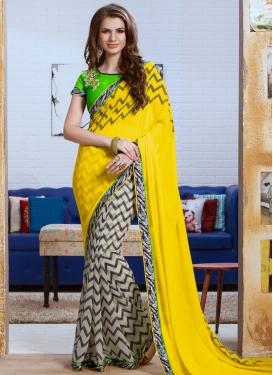 Pleasance Yellow Color Half N Half Party Wear Saree