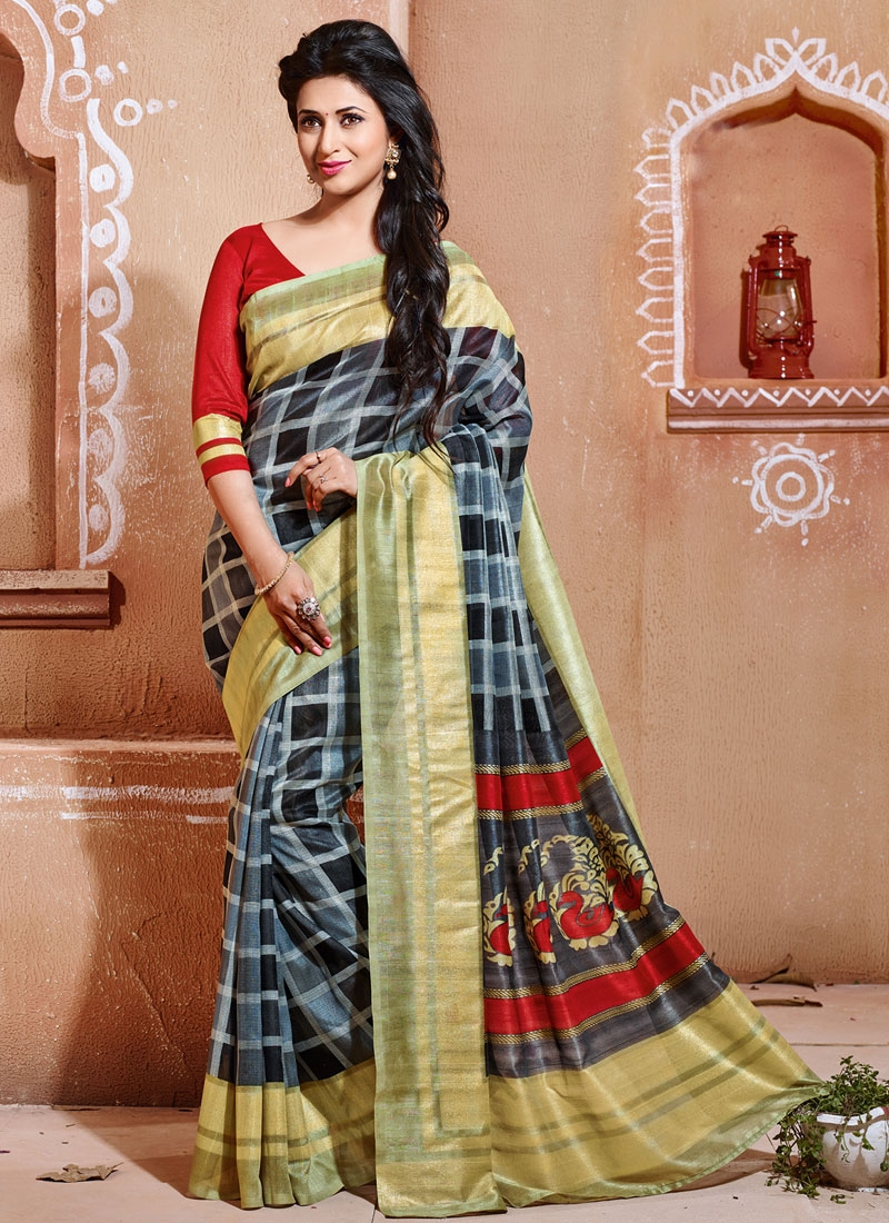 Pleasing Art Silk Divyanka Tripathi Casual Saree
