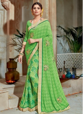 Pleasing Faux Georgette Contemporary Saree