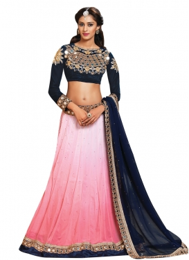 Pleasing Mirror Work Party Wear Lehenga Choli