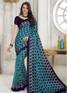 Polka Dotted Work Trendy Classic Saree