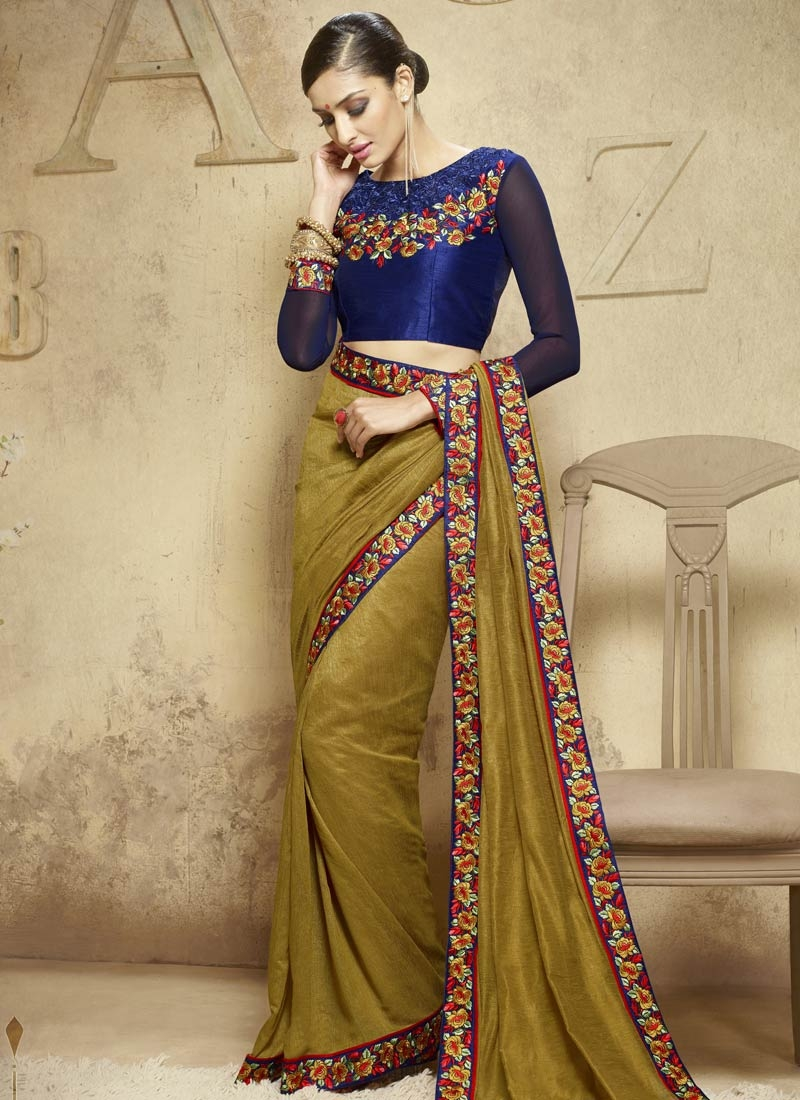 Praiseworthy Art Silk Lace Work Party Wear Saree