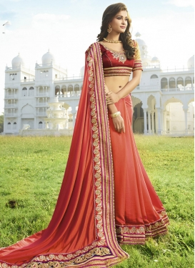 Praiseworthy Beads And Resham Work Designer Saree