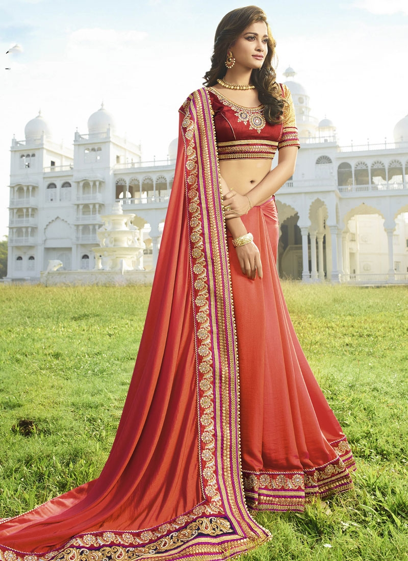 Praiseworthy Beads And Resham Work Designer Saree