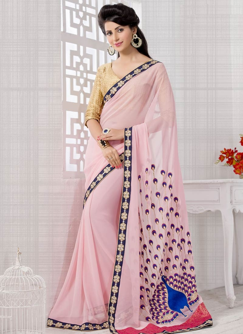 Praiseworthy Beads And Stone Work Party Wear Saree