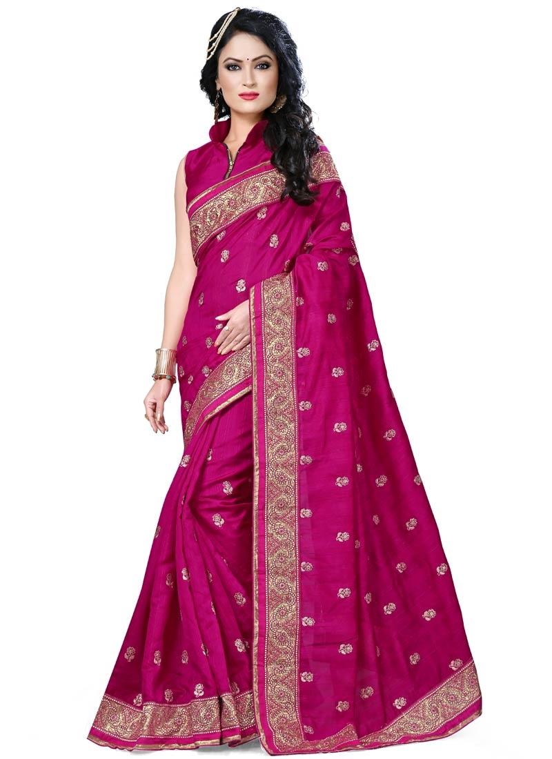 Praiseworthy Bhagalpuri Silk Designer Saree