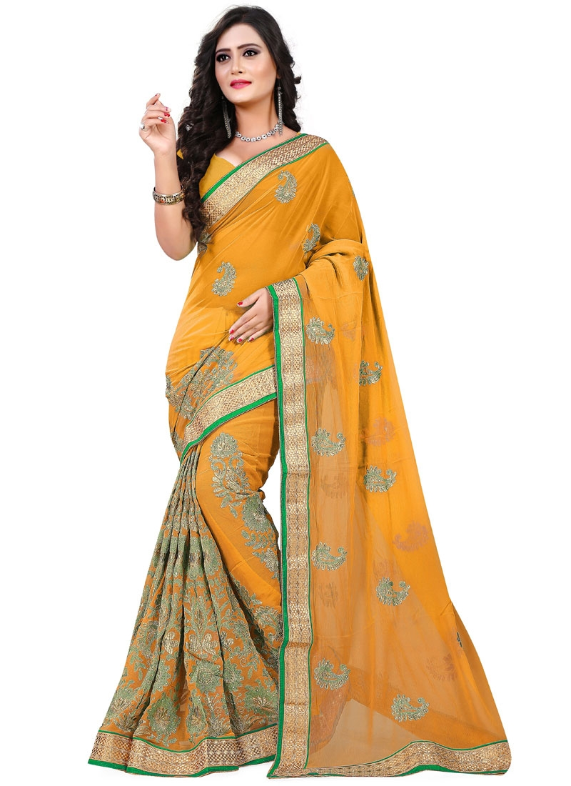 Praiseworthy Booti Work Party Wear Saree