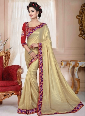 Praiseworthy Lace And Resham Work Casual Saree