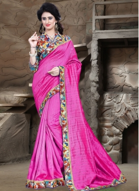 Praiseworthy Lace Work Casual Saree