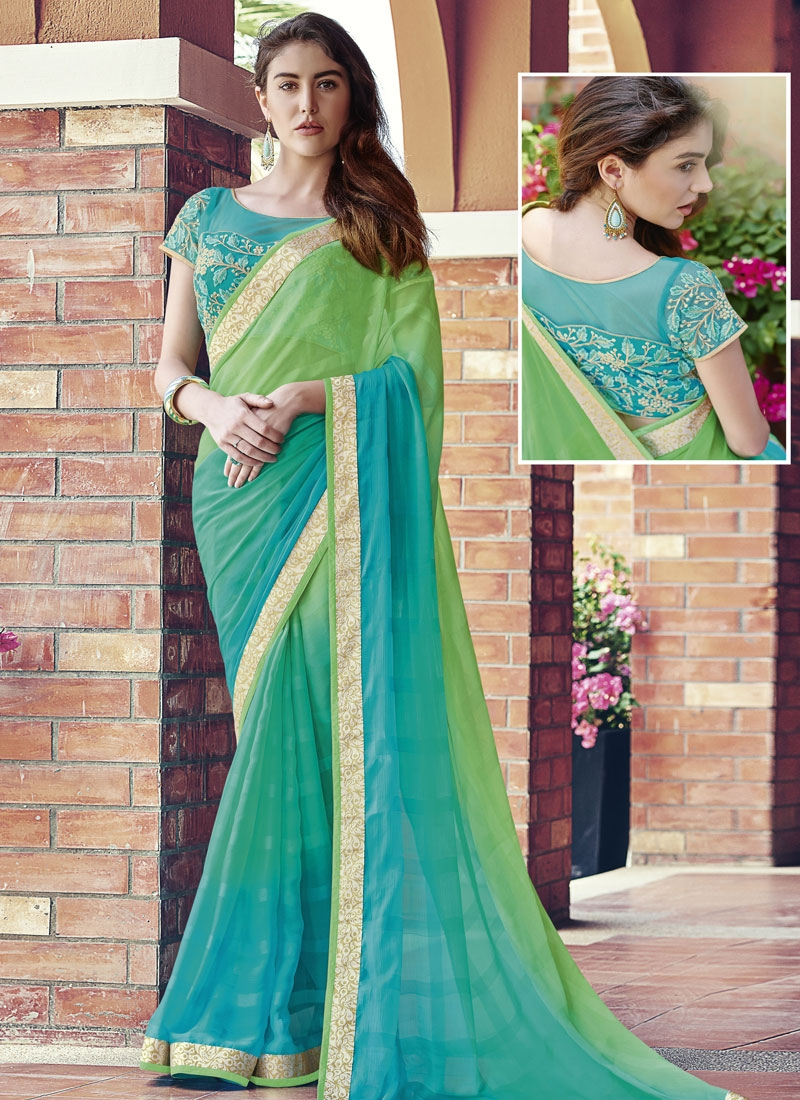 Praiseworthy Lace Work Party Wear Saree