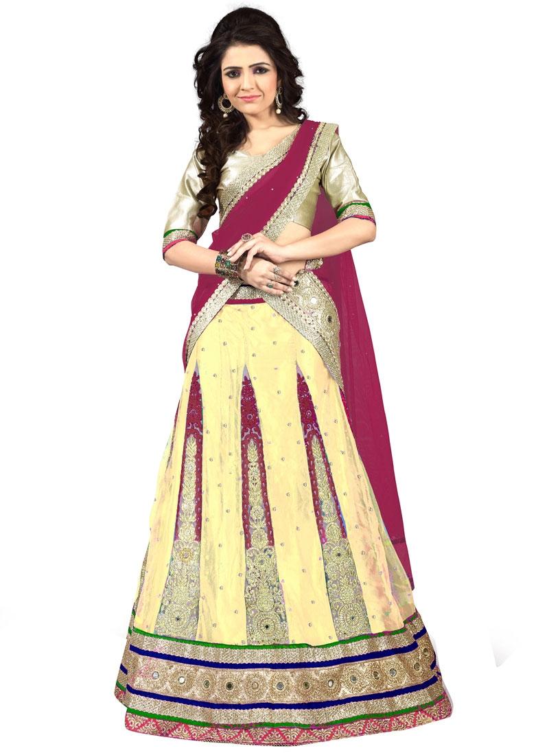 Praiseworthy Mirror Work Wedding Lehenga Choli