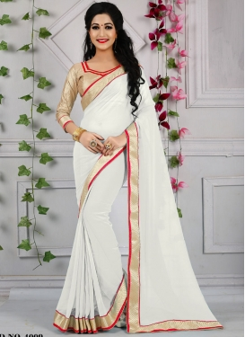 Praiseworthy Off White Color Casual Saree