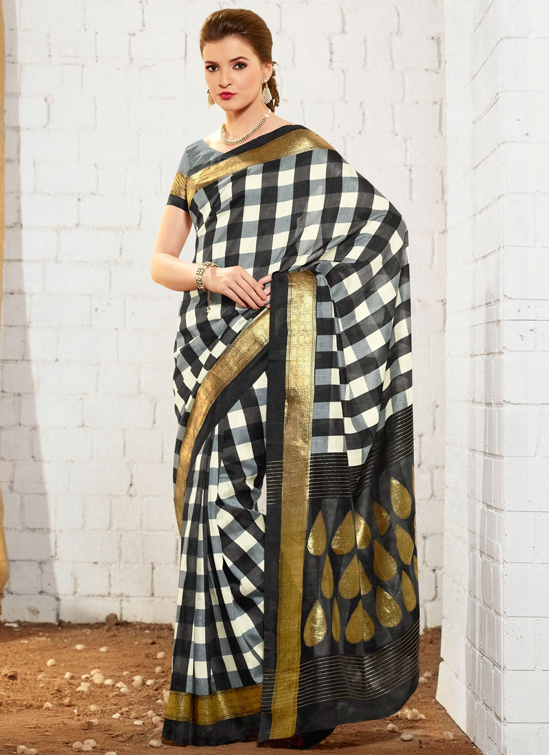 Praiseworthy Printed Art Silk Casual Saree