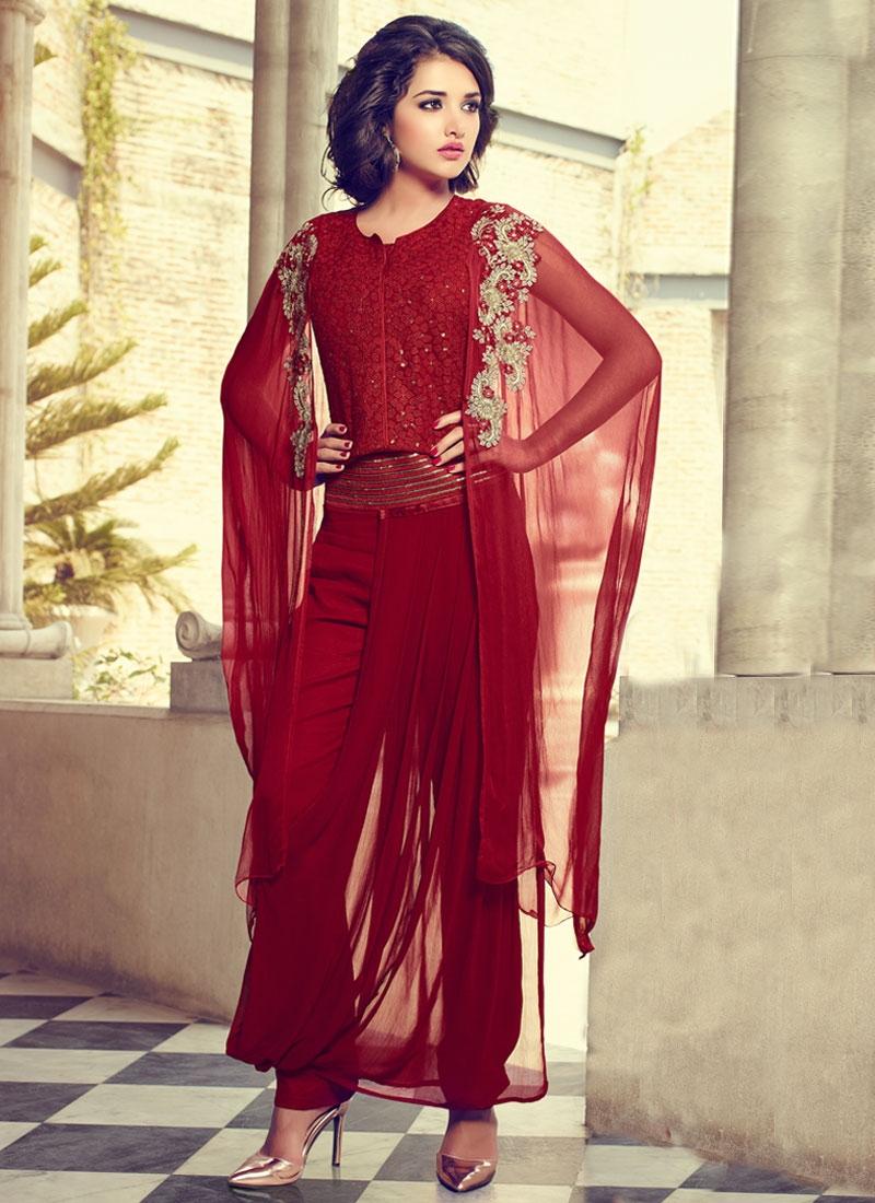 Praiseworthy Pure Georgette Pant Style Designer Salwar Suit