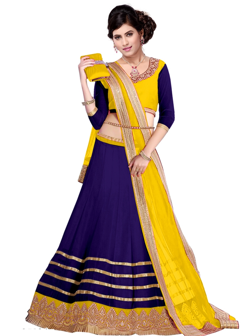 Praiseworthy Resham Work Party Wear Lehenga Choli