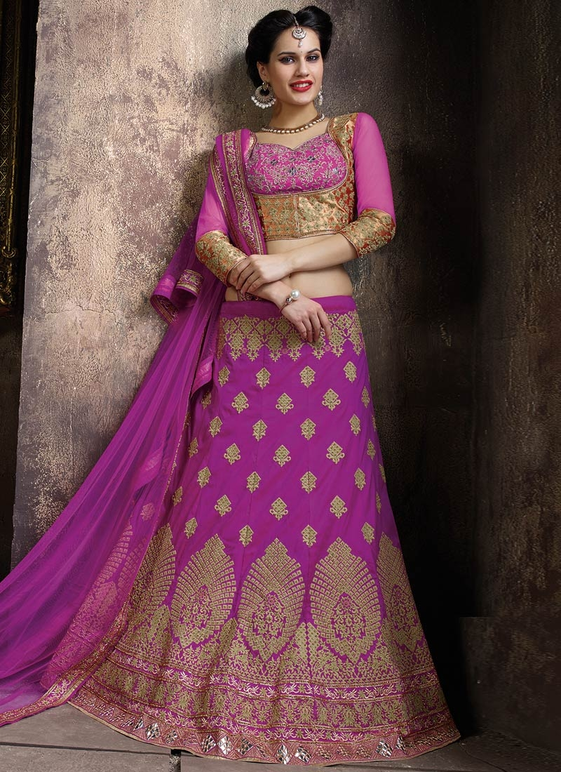 Praiseworthy Stone And Mirror Work Bridal Lehenga Choli