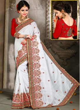 Precious Booti Work Bhagalpuri Silk Traditional Designer Saree