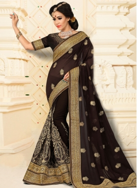 Precious Booti Work Designer Contemporary Saree
