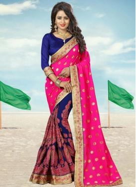 Precious Booti Work Half N Half Trendy Saree