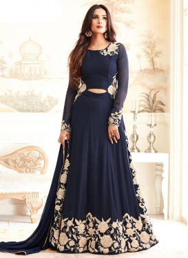 Precious  Embroidered Work Long Length Designer Suit