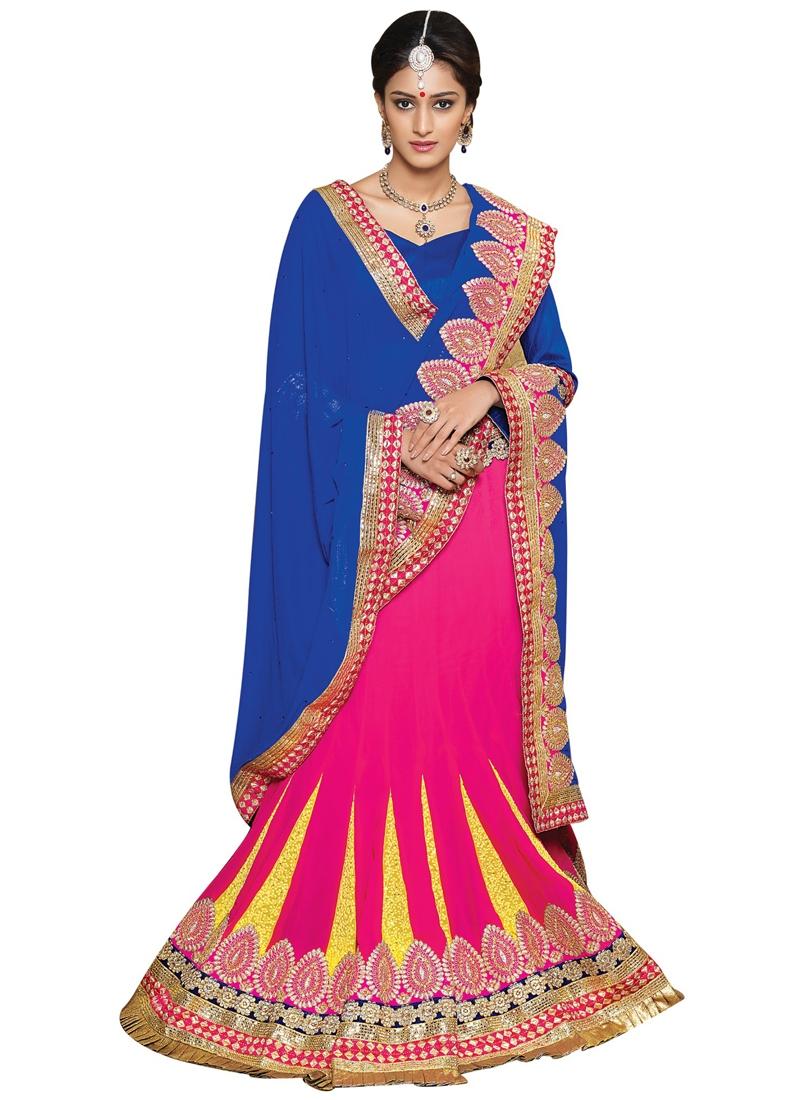Precious Lace And Resham Work Party Wear Lehenga Choli