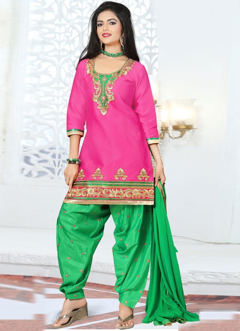 Precious Lace Work Patiala Style Punjabi Suit