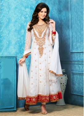 Precious Multi And Patch Work Anarkali Salwar Kameez