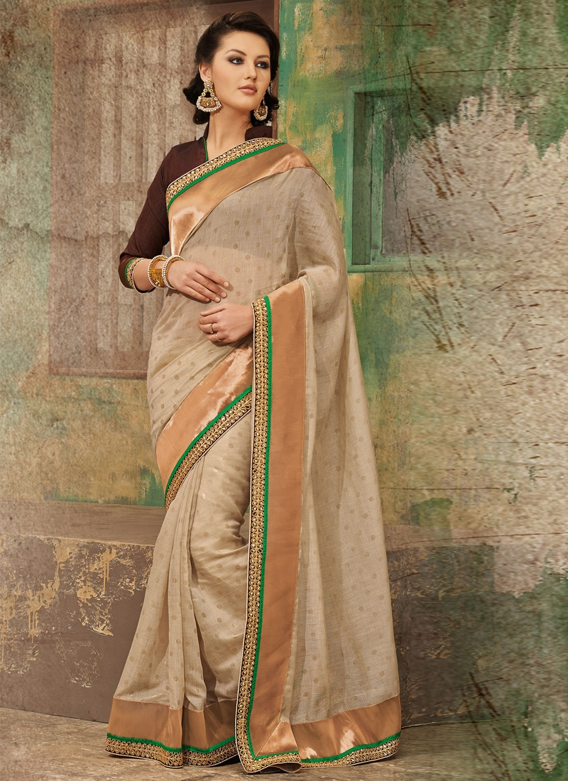 Precious Polka Dotted Party Wear Saree
