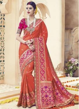 Precious Satin Silk Lace Work Traditional Saree