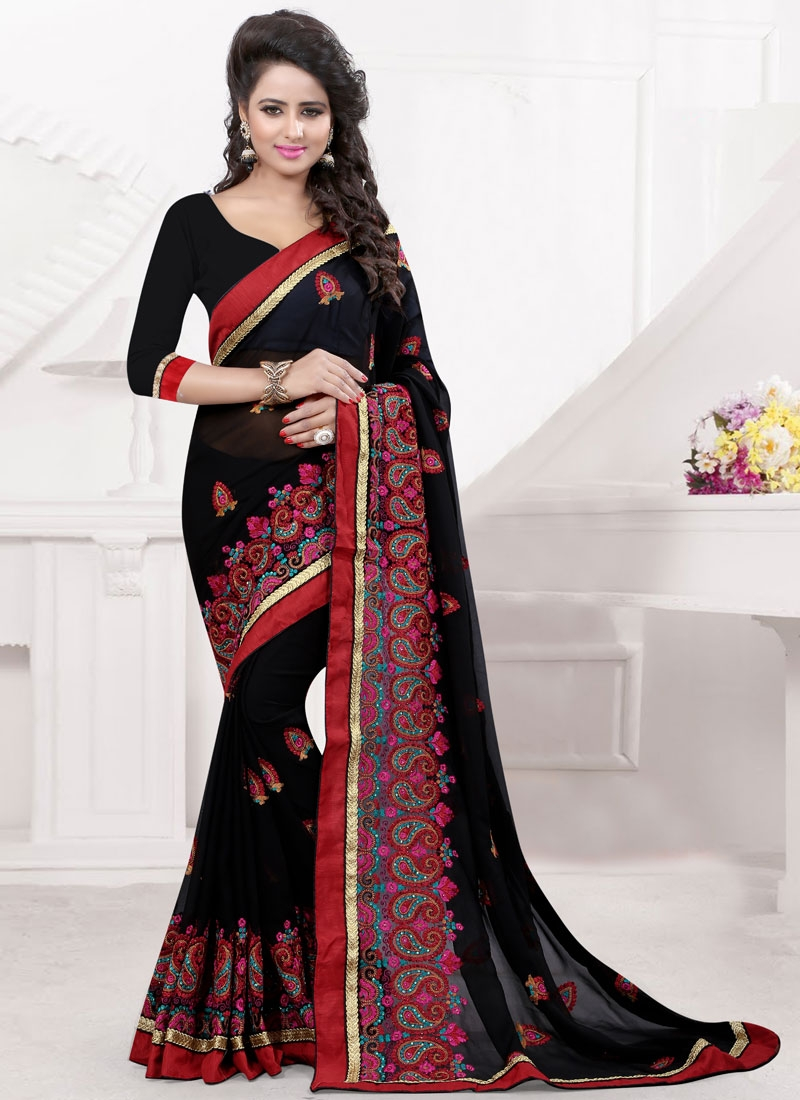 Preferable Booti And Stone Work Designer Saree