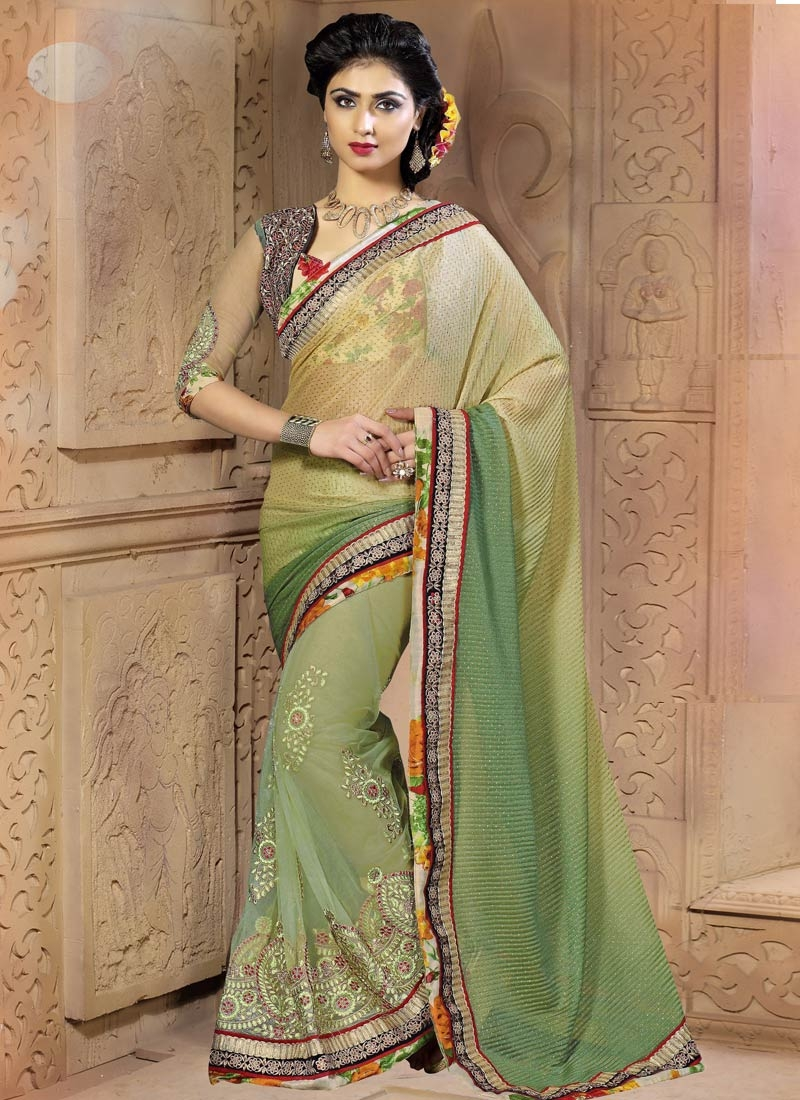 Preferable Booti Work Viscose Party Wear Saree