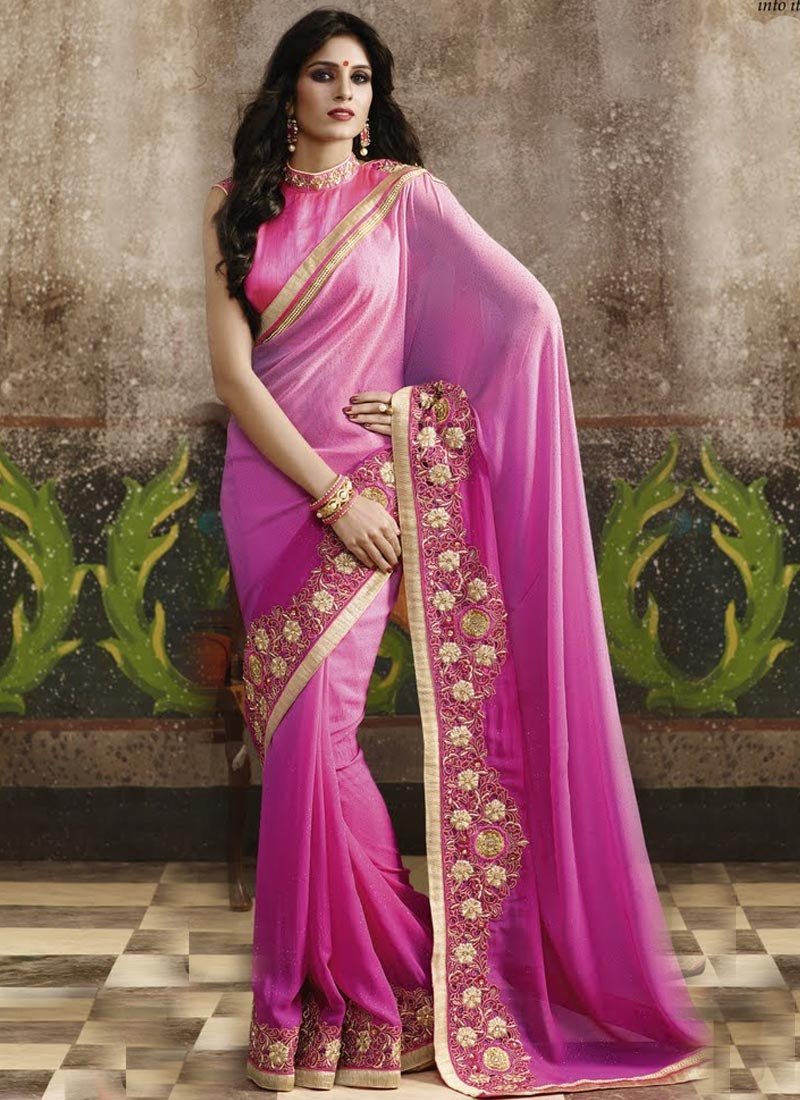 Preferable Embroidery Work Designer Saree