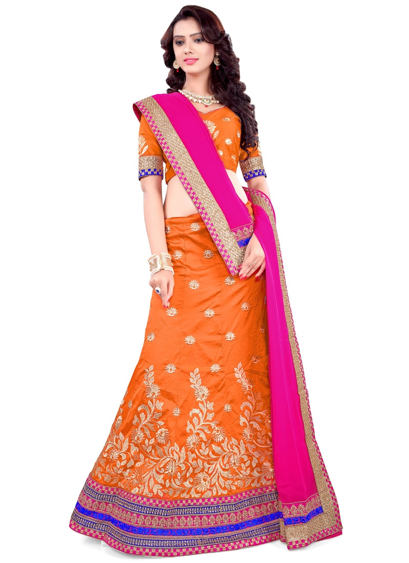 Preferable Embroidery Work Silk Designer Lehenga Choli