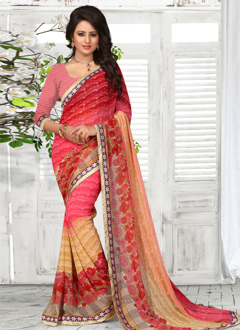 Preferable Faux Georgette Digital Print Work Casual Saree