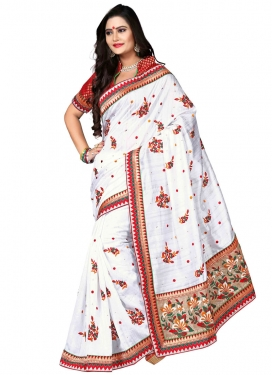 Preferable Floral And Stone Work Designer Saree