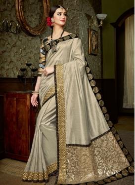 Preferable Lace Work  Satin Silk Classic Designer Saree