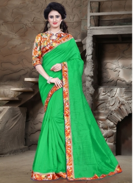 Preferable Mint Green Color Casual Saree