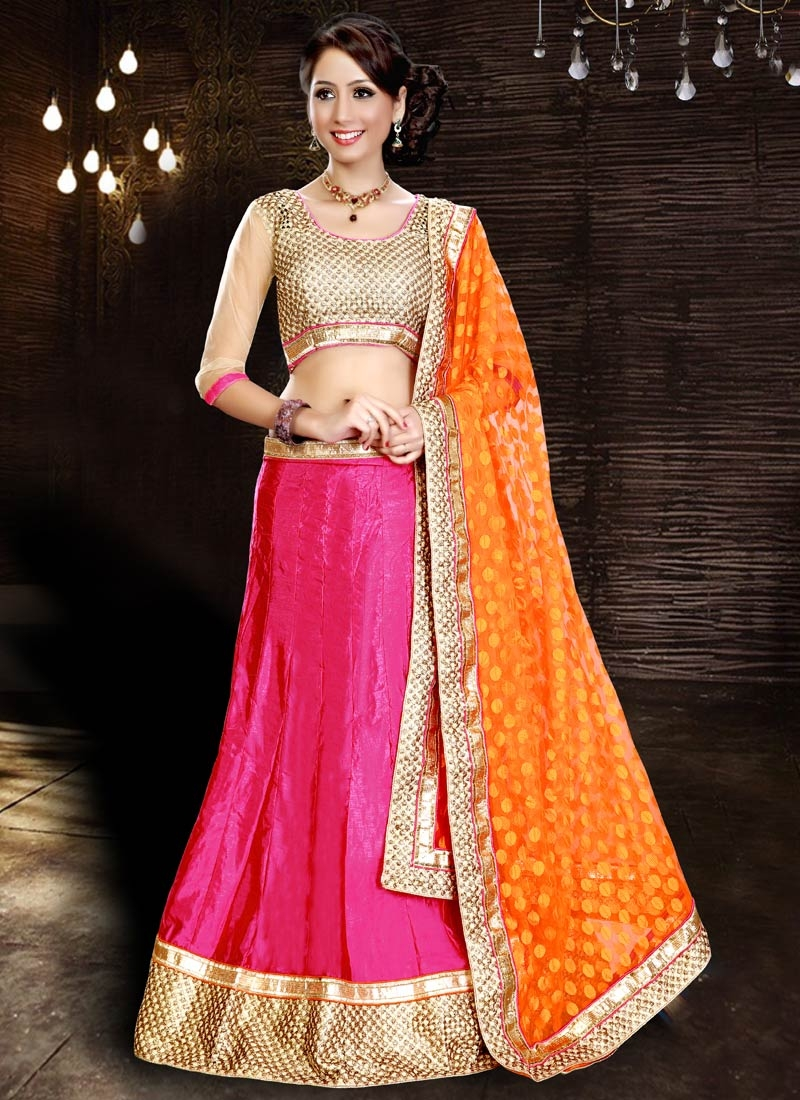 Preferable Rose Pink Color Party Wear Lehenga Choli