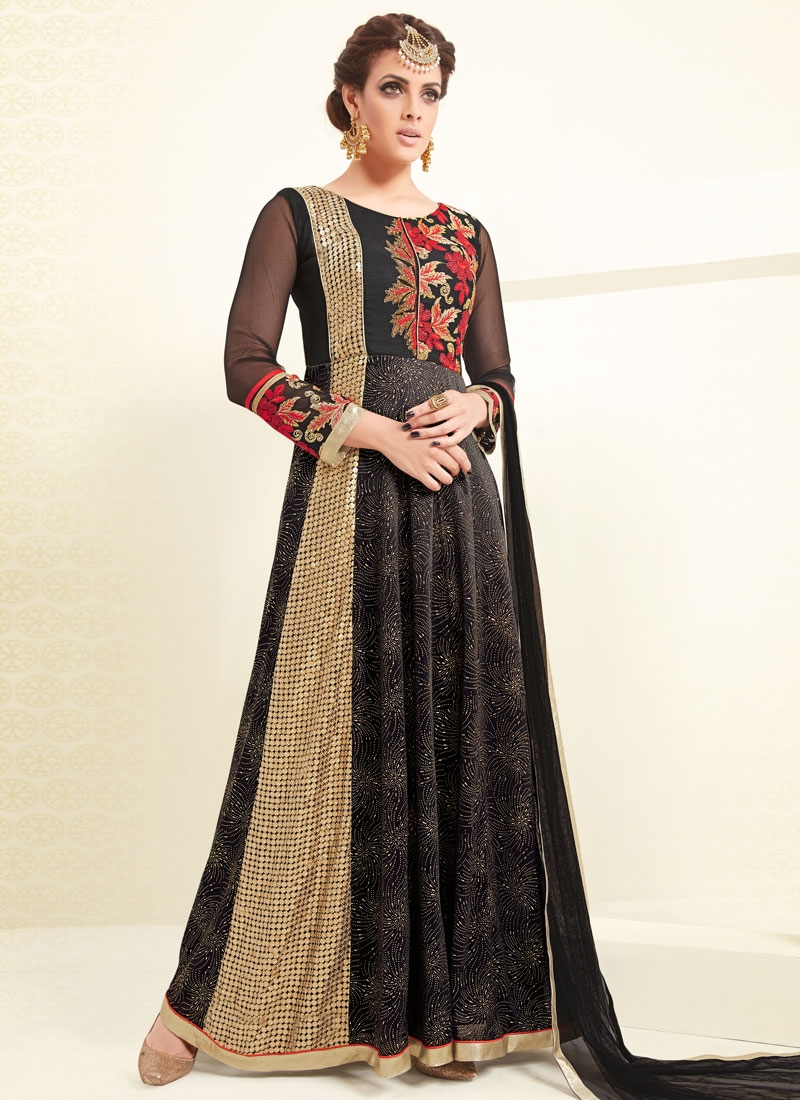 Preferable Sequins Work Ankle Length Designer Salwar Kameez
