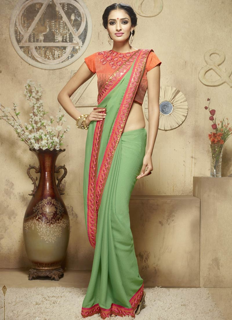 Preferable Sequins Work Jacquard Party Wear Saree
