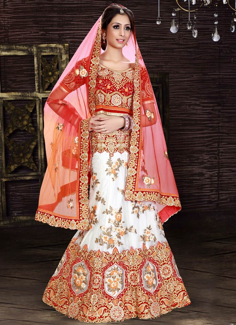 Preferable Stone And Floral Work Bridal Lehenga Choli